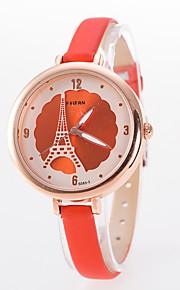 faixa de relógio de senhoras da moda fina mostrador redondo de quartzo analógico relógio