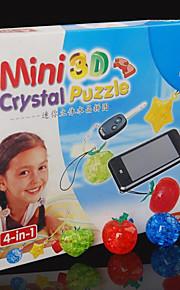 quatro unidade blocos puzzle 3D Crystal DIY brinquedos educativos criativos brinquedos pequenos crianças