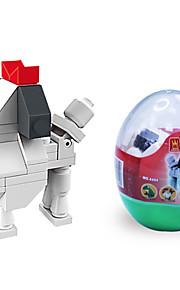 dr wan, le byggesten mini dyr æg emballage puslespil forsamling blokke legetøj hund