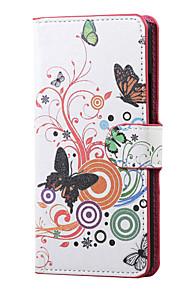 mariposa blanca magnética de la PU de la carpeta de cuero del soporte del tirón la cubierta del caso para lg x220 K5