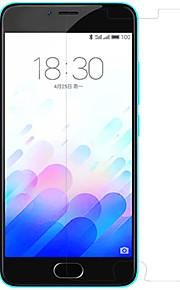hd nillkin película anti huella digital configurado para el encanto meizu azul 3 teléfono móvil
