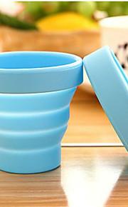 bærbare rejse silikone folde kopper udendørs sport teleskopisk gurgle tilfældig farve