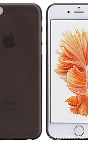 matte mince étui transparent pc de téléphone pour iphone 6 / 6s / 6 plus / 6s, plus