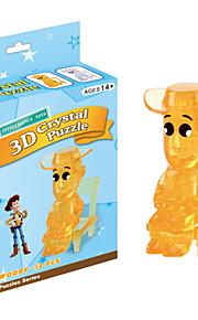 blocos de cristal lenhosas 3D Puzzle DIY brinquedos educativos criativos brinquedos pequenos crianças