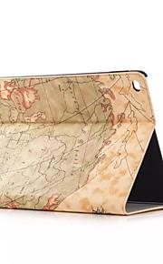 retro stil karta utskrifter PU läder flip inbunden tablettasken till Apple iPad luft smarta monter skyddsfodral