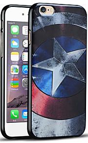 Captain America skjold beskyttende bakdekselet myk iphone case for iphone 6s / iphone 6