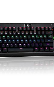 z-77 multicolore rétro-éclairé 87 touches mécaniques clavier de jeu avec des interrupteurs bleus