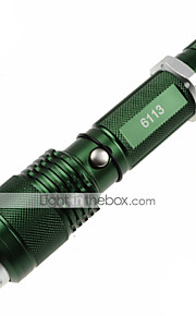 U`King® LED Flashlights/Torch LED 1200lm Lumens 5 Mode Cree XM-L2 18650 / AAA Adjustable Focus / Nonslip grip / Self-Defense / Zoomable
