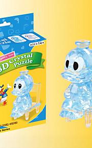 3d blocos pato donald de cristal quebra-cabeça DIY brinquedos educativos criativos brinquedos pequenos crianças