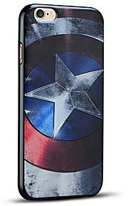 Captain America skjold myk beskyttende bakdekselet iphone case for iphone 6s pluss / iphone 6 pluss