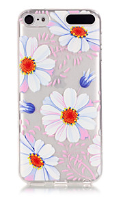 Sun flower Pattern TPU Relief Back Cover Case for iPod Touch 5/Touch 6