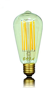 1 stk. NO E26 / E26/E27 6W 6 COB 450-650 lm Varm hvit ST64 Dimbar / Dekorativ LED-globepærer AC 220-240 V