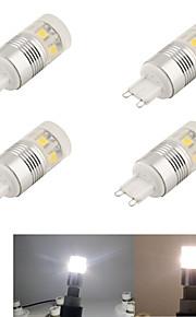3W G9 LED-lamper med G-sokkel T 11 SMD 5050 220 lm Kjølig hvit Dekorativ AC 220-240 V 4 stk.
