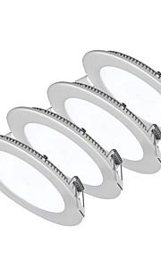 6W Panellamper 30pcs SMD 2835 500-550lm lm Varm hvid / Kold hvid / Naturlig hvid Justérbar lysstyrke / Dekorativ AC 85-265 V 4 stk.