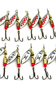 Hengjia 10pcs Spoon Metal Fishing Lures 65mm 4.7g Spinner Baits Random Colors