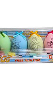 DIY akvarel farve æg
