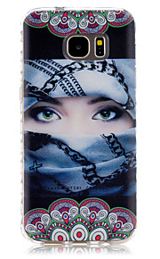 Masked Girl Pattern Slip TPU Phone Case For Samsung Galaxy S7/S7 edge