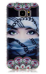 サムスンギャラクシーS7 / S7エッジ用のマスクされた女の子のパターンスリップTPU電話ケース