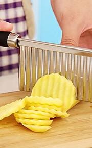 potet bølgete kanter kniv i rustfritt stål plast håndtak kjøkken gadget grønnsaker frukt kutte peeler matlaging