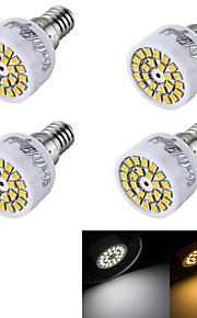 4 stk. YouOKLight® E14 3W 24 SMD 2835 240 lm Varm hvit / Kjølig hvit R50 Dekorativ LED-spotpærer AC 220-240 V