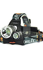 Lâmpadas Frontais (Recarregável / Bisel de Golpe) - LED 4.0 Modo 4000/3000/5000 Lumens Cree XM-L T6 - paraCampismo / Escursão /