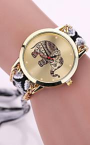 Mulheres Relógio de Moda Quartz Relógio Casual Tecido Banda Relógio de Pulso Preta / Branco / Vermelho / Roxa / Cáqui / Ivory