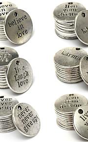 10stk antikke elsker ord charm sølv vedhæng DIY smykker making legering fund