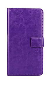 estilo de la carpeta patrón del color sólido de la PU de cuerpo completo cubierta protectora con el soporte para HTC Desire 500