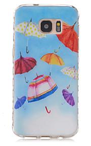サムスンギャラクシーS7 / S7エッジのための小さな傘の柄スリップTPU電話ケース