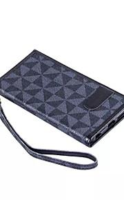 nye trekantede gitter lommebok PU lær flip stå hylster telefon tilfelle for iphone 6 pluss / 6s pluss (assorterte farger)