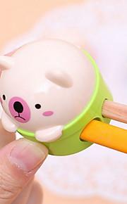 Double Holes Animal Design Portable Manual Pencil Sharpener(Random Color)
