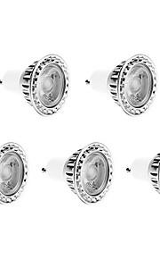 5W GU10 LED-spotpærer 1 COB 450 lm Varm hvit Dimbar AC 220-240 V 5 stk.