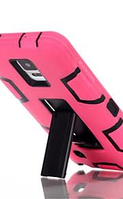 silicone&plastic 3 in 1 armor hybride bescherming achterkant van de behuizing voor Samsung Galaxy Note 4 mobiele telefoon dekking