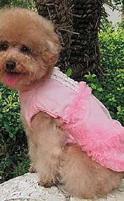犬用品 ドレス ホワイト / ブルー / ピンク 夏 / 春/秋 クラシック / ケーキ 結婚式 / クリスマス / バレンタインデー / ファッション-Lovoyager