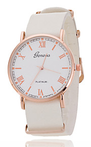 Unisex Wrist Watch The New Rose Gold Ring White Plate Scale Quartz Watch Men And Women Belts Geneva(Assorted Colors)