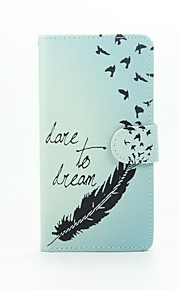 Feather Painted PU Phone Case for Huawei Ascend P9 Lite