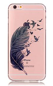 투명 색 깃털 패턴이 아이폰에 대한 소프트 케이스 전화 케이스 TPU 6/6 플러스 / 기가 / 기가 플러스