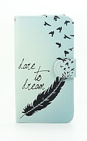 Feather Patter PU Leather Full Body Case with Stand for Wiko Lenny2