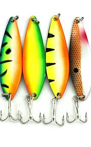 Hengjia 5pcs Hot Mult Color Shiny Spoon Metal Fishing Lures  72mm 18g Spinner Baits Random Colors