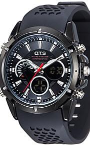 Masculino Assista Digital Relógio Esportivo LCD / alarme / Luminoso / Cronômetro Borracha Banda Relógio de Pulso Preta