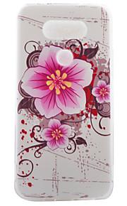 G5 LG asusのzenfone用パターンソフトフォンケースを描いたTPU素材の半分の花の色