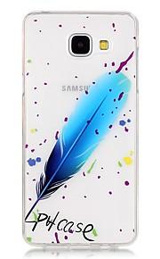 TPU de alta pureza a céu aberto translúcida pena padrão de caixa do telefone macio para Galaxy A310 / A510