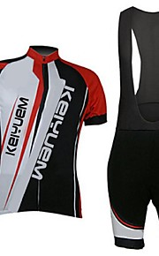 KEIYUEM®Others Men's Cycling Jersey Short Sleeves + BIB Shorts ropa ciclismo Cycling clothing Suits #50