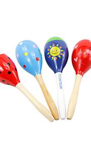 madeira chocalho criança aleatória para as crianças todos os instrumentos musicais de brinquedo entrega aleatória