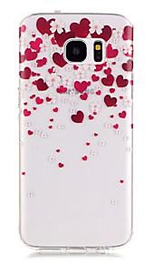 TPU de alta pureza a céu aberto translúcida pattern caso telefone macio para Galaxy S5 / S6 / S6 edge / S7 / S7 borda