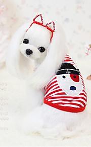 犬用品 Tシャツ レッド / ブラック 冬 / 夏 / 春/秋 クラシック / 縞柄 / アニマル 結婚式 / バレンタインデー / ストライプ / ファッション / クリスマス-Lovoyager