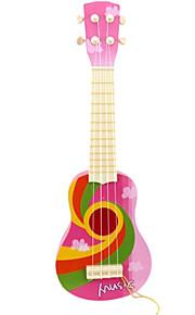 plástico guitarra criança simulação rosa para crianças acima de entrega aleatória 8 instrumentos brinquedo musical