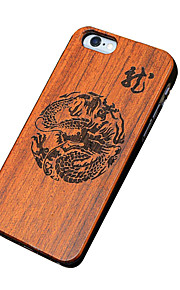 Ultra Thin Wooden Chinese Dragon Protective Back Cover Hard iPhone PC Case for iPhone SE/iPhone 5S/iPhone 5