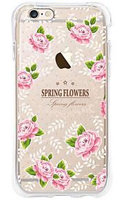 kakashi bloempatroon TPU schilderij airbag Hoogte- zachte hoes voor de iPhone 6s / 6 / 6s plus / 6 plus (rose)