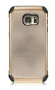 Wave Point Electroplating Pattern Back Cover Hard PC+Soft TPU Armor Protective Phone Case For Sumsung Galaxy S7/S7edge